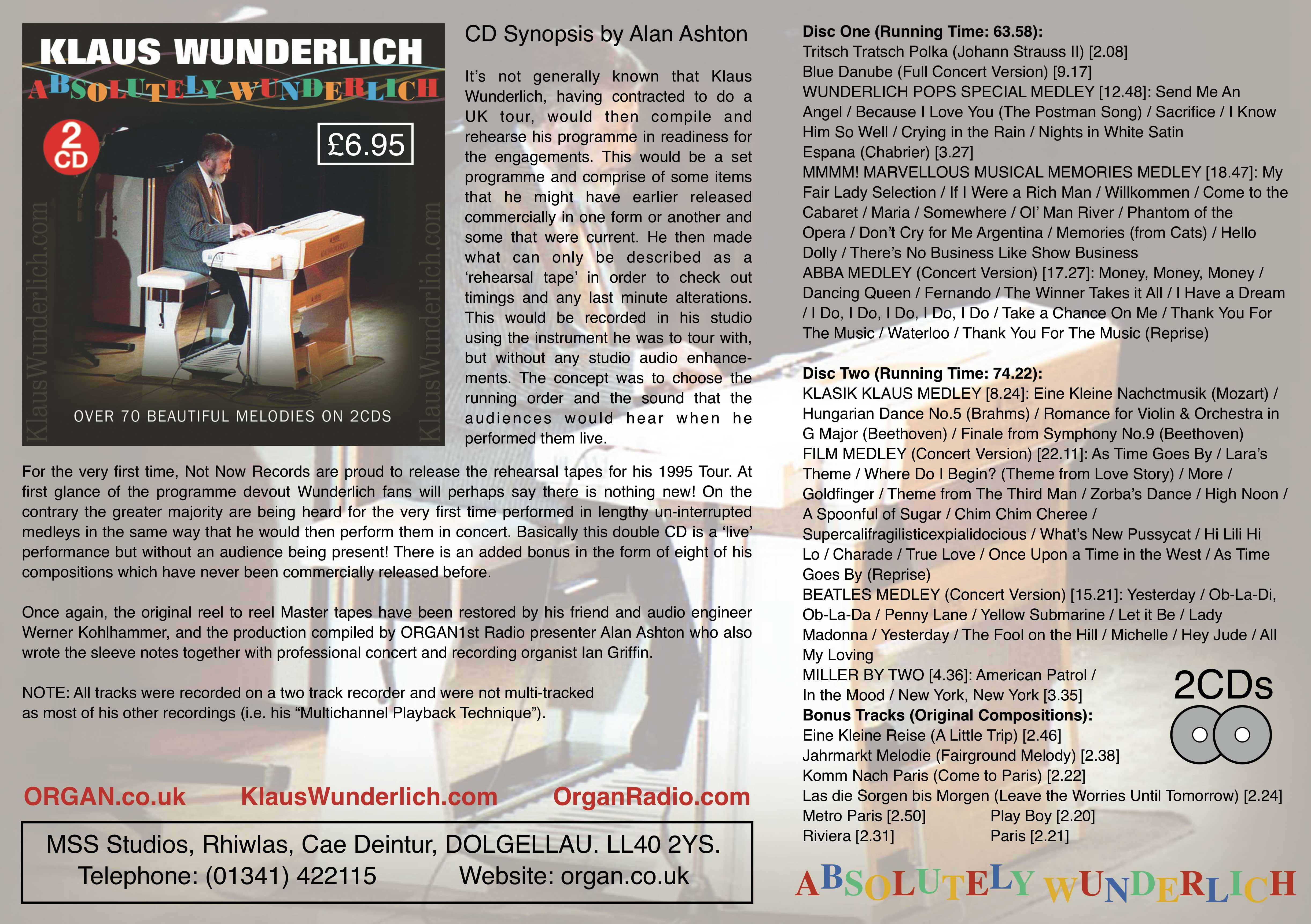 Absolutely Wunderlich (Promotional Flyer)